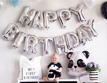 Obrázek Narozeninové balónky - stříbrné