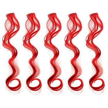 Obrázek Barevné příčesky do vlasů - červené