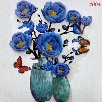 Obrázek z 3D samolepka květina - modrá