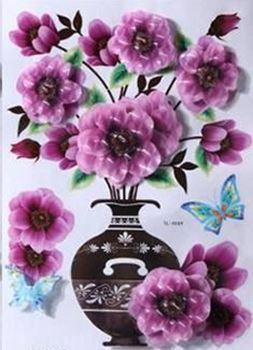 Obrázek z 3D samolepka květina - fialová