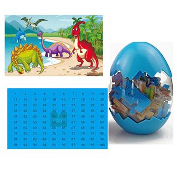 Obrázek Dinosauří puzzle - modré