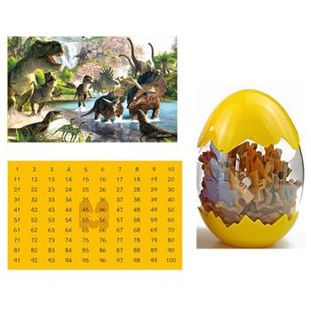 Obrázek Dinosauří puzzle - žluté