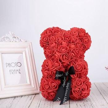Obrázek Medvídek z růží - červený