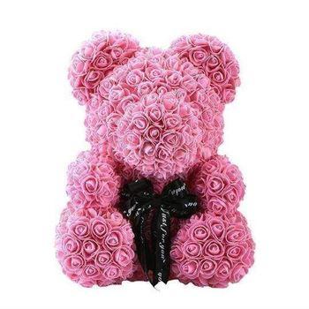 Obrázek Medvídek z růží - růžový