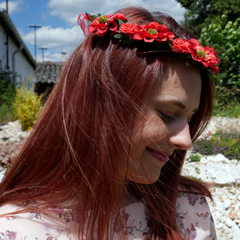 Obrázek Květinová čelenka - červená