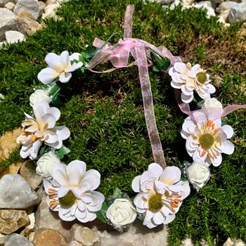 Obrázek z Květinová čelenka -  bílá