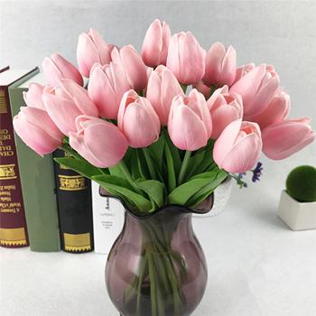 Obrázek z Umělé tulipány - světle růžové