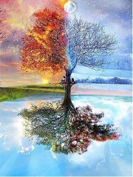 Obrázek Diamantové malování s rámem - strom
