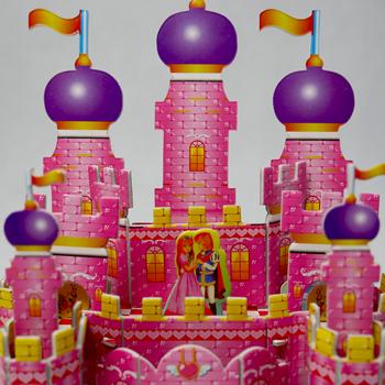 Obrázek 3D puzzle pro děti - hrad