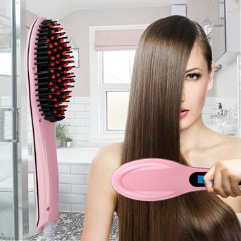 Obrázek Kartáč na žehlení vlasů - růžový