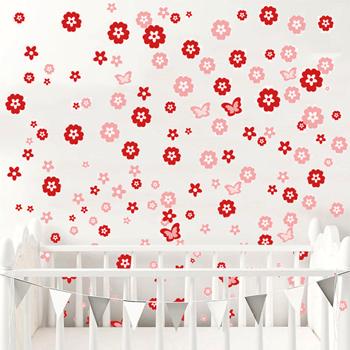 Obrázek Samolepka na zeď - kytičky