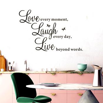 Obrázek Samolepka na zeď - Live every moment