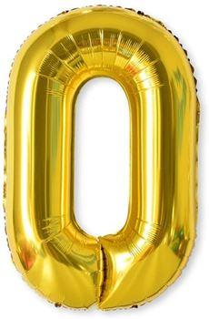 Obrázek Nafukovací balónky čísla maxi zlaté - 0