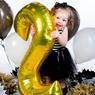 Obrázek z Nafukovací balónky čísla maxi zlaté - 0