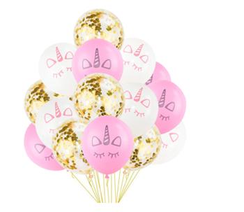 Obrázek Nafukovací balónky - jednorožec 15 ks