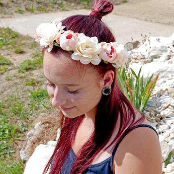 Obrázek Kytičková čelenka - růžová