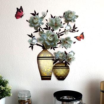 Obrázek 3D samolepka květina - bílá