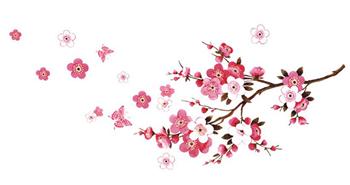 Obrázek Samolepka na zeď - Sakura