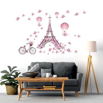 Obrázek Samolepka na zeď - Eiffelovka