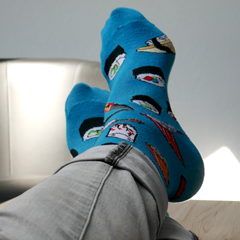 Obrázek Barevné ponožky - sushi