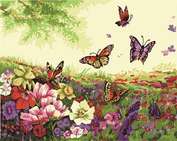 Obrázek Malování podle čísel - motýlci