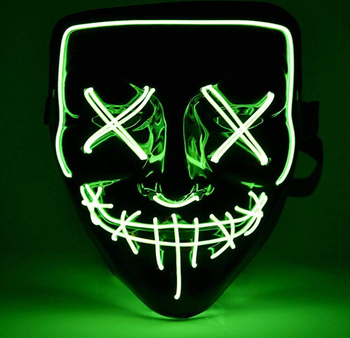 Obrázek Děsivá svítící maska - zelená