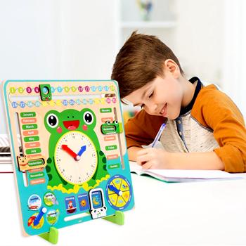 Obrázek Dřevěný didaktický kalendář pro děti