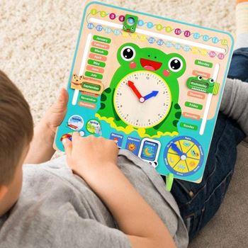 Obrázek z Dřevěný didaktický kalendář pro děti