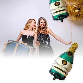 Obrázek Fóliový balónek - zelené šampaňské