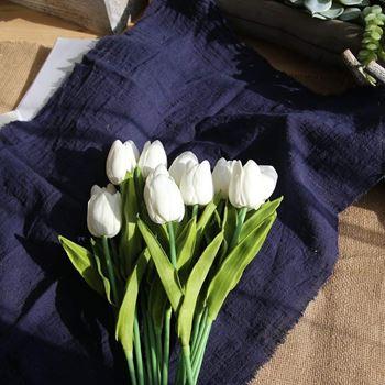 Obrázek Umělé tulipány 10 ks - bílé
