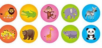 Obrázek Dětská razítka zvířátka - 10 ks
