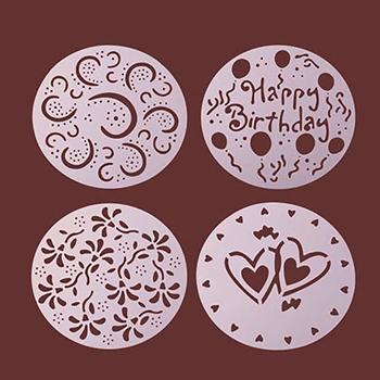 Obrázek Šablony na zdobení dortů 4 ks