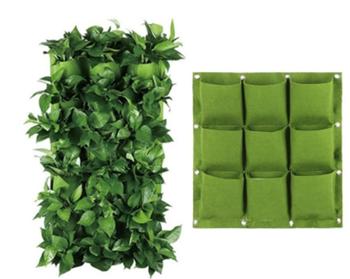 Obrázek z Závěsné textilní květináče - 9 kapes