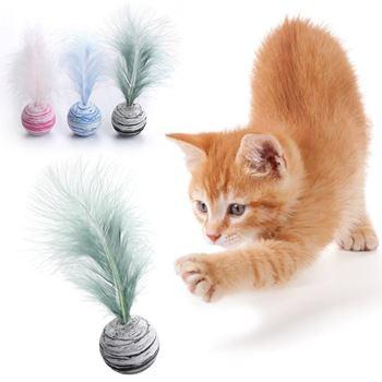 Obrázek z Míček pro kočky - peříčko