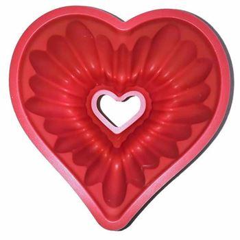 Obrázek Silikonová forma na bábovku - srdce