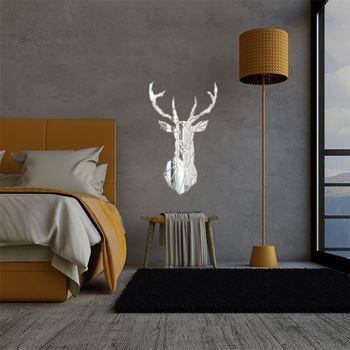 Obrázek Zrcadlová samolepka na zeď - jelen