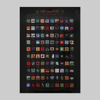 Obrázek Seškrabávací plakát - 100 filmů, které musíte vidět