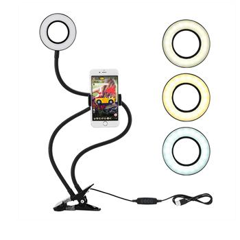 Obrázek Selfie držák na telefon s LED přisvícením