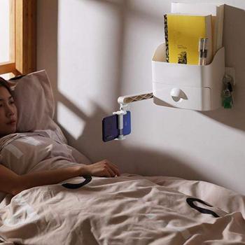 Obrázek z Nástěnný organizér s držákem na telefon - bílý