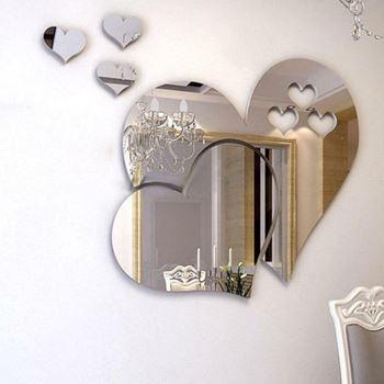 Obrázek z Nalepovací zrcadlo - srdce