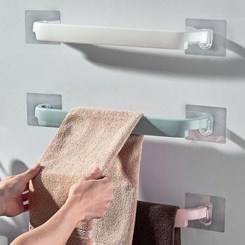 Obrázek Nalepovací držák na ručníky - modrý