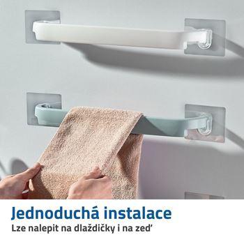 Obrázek Nalepovací držák na ručníky - bílý