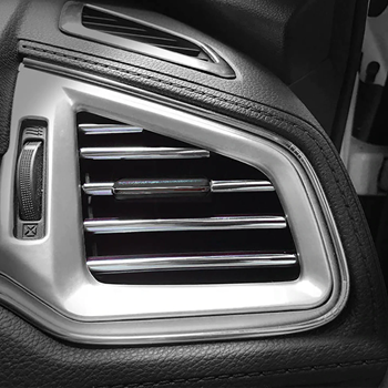 Obrázek Dekorační lišty na ventilační mřížku auta - stříbrná