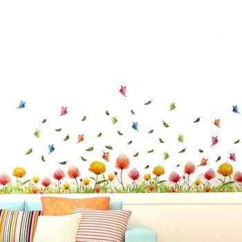 Obrázek Nálepky na okno - barevné kytičky