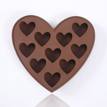 Obrázek Silikonová forma na čokoládu - srdce