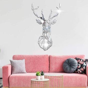 Obrázek z Zrcadlová samolepka na zeď - jelen