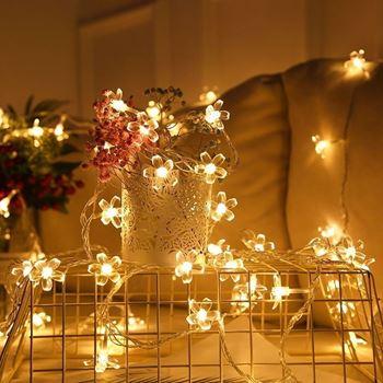 Obrázek z LED světelný řetěz - třešňový květ