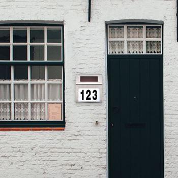 Obrázek Solární světlo s číslem domu