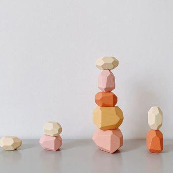 Obrázek Balanční dřevěné kameny 10ks