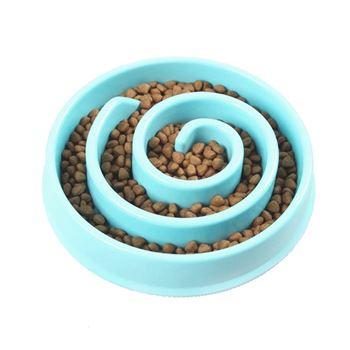 Obrázek Miska pro pomalé krmení - modrá